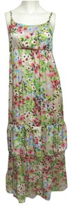multicolor Maxi Dress by Old Navy New Nwt Long Xs 2 Ruffle Red Blue Tan Green Tiered 0 Sleeveless Strap