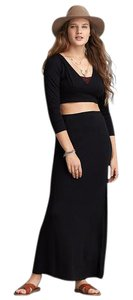 Black Maxi Dress by American Eagle Outfitters Skirt Set Top And Skirt Skirt Cropped Top