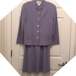 Castleberry Lavender Jacket 12P Skirt 14P Vintage Wool Blend Light Weight