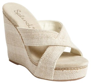 Splendid Canvas Heels Cushion Heels Heels Beige Sandals Sandals tan Wedges