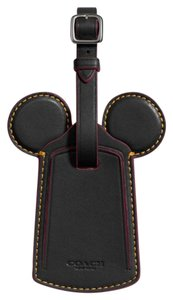 Coach Luggage Tag With Mickey Ears