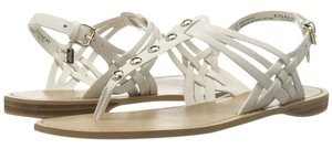 Coach Leather Chalk Sandals