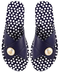 Tory Burch Navy Sea Sandals