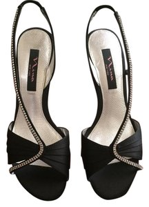 Nina shoes Black satin Sandals