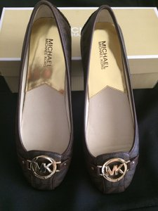 MICHAEL Michael Kors Brown MK Signature Flats