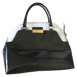 ABELLICCI And Large Satchel in black, white