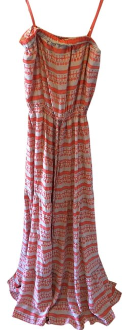 Coral and nude Maxi Dress by GERARD DAREL