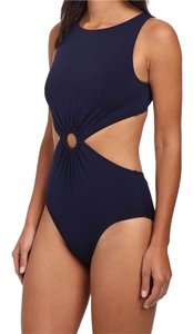 Michael Kors Michael Kors Draped Solids Open Back Maillot swimsuit. size 6