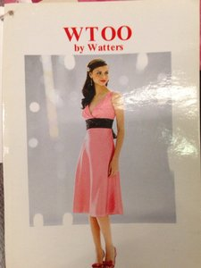 Wtoo Bloom / Chocolate Bridesmaid/Mob Dress Size 10 (M)