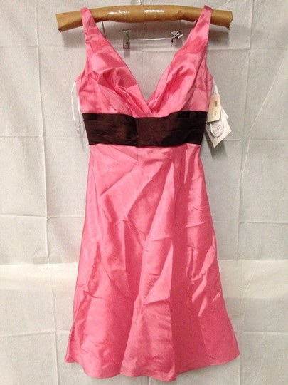 Wtoo Bloom / Chocolate Bridesmaid/Mob Dress Size 10 (M) Image 1