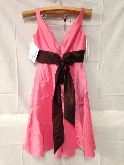 Wtoo Bloom / Chocolate Bridesmaid/Mob Dress Size 10 (M) Image 2