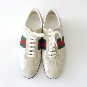 Gucci Leather Women's Sneakers Suede Beige Athletic