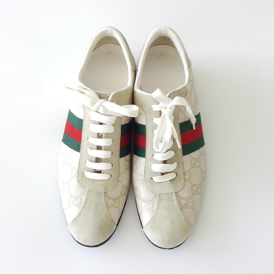 9bda85d72 Gucci Guccissima Leather Women's Sneakers Suede Beige Athletic Image 0 ...