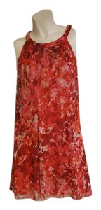 London Times short dress Red Floral on Tradesy