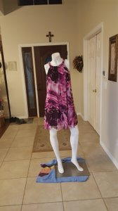 London Times short dress Pink Floral on Tradesy