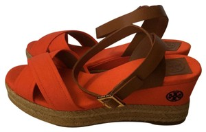 Tory Burch Tory Tory Espadrille Espadrille Poppy Red/Royal Tan Wedges
