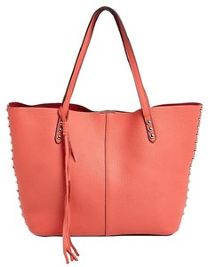Rebecca Minkoff Leather Hc35eult32 846632713440 Nwt Tote in Bright Coral /Silver
