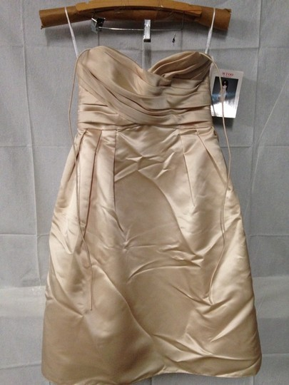 Wtoo Khaki Bridesmaid/Mob Dress Size 8 (M) Image 1