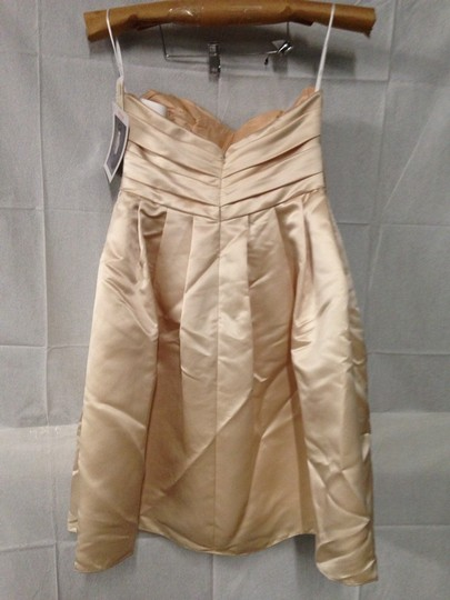 Wtoo Khaki Bridesmaid/Mob Dress Size 8 (M) Image 2