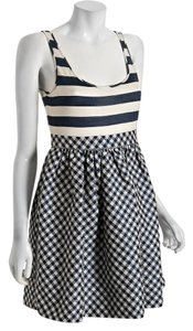 Ali Ro short dress Navy Stripe Gingham on Tradesy