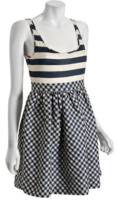 Ali Ro short dress Navy Stripe Gingham Sleeveless on Tradesy