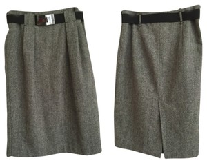 Zara Basic Ladies Wool Skirt Grey