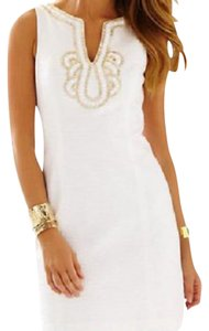 Lilly Pulitzer short dress white and gold accent on Tradesy