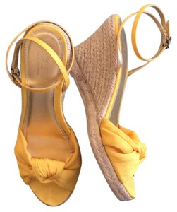 J.Crew yellow Wedges
