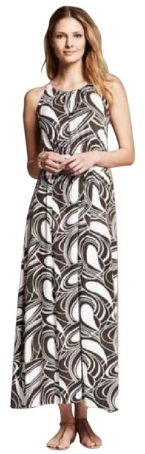Item - Brown L Heritage Printed Knit Halter Patio Long Casual Maxi Dress Size 12 (L)