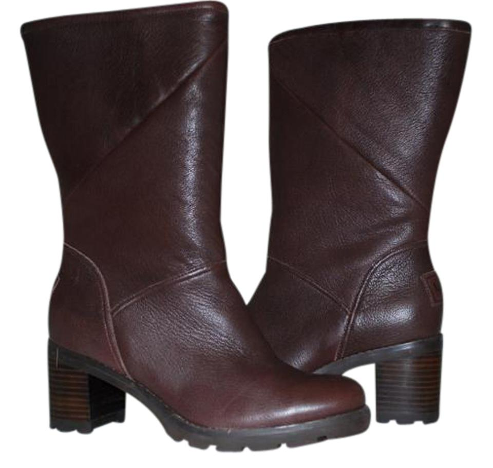 cd7df63ca81 UGG Australia Stout Jessia Water Resistant Leather Fold Over High 1013901  Boots/Booties Size US 6.5 Regular (M, B) 59% off retail