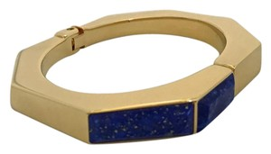 Vita Fede Octagon Bangle wth Lapis Lazuli Inlay Size 6.5""