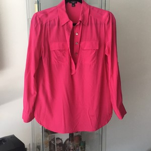 Ann Taylor Top bright pink