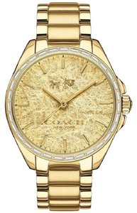 Coach Coach Tristen 14502458 Gold Stainless Foil Dial Glitz Womens Watch