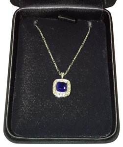 Tiffany & Co. Blue sapphire and diamond necklace