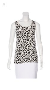 Dolce&Gabbana Polka Dot Silk Top Black and off-white