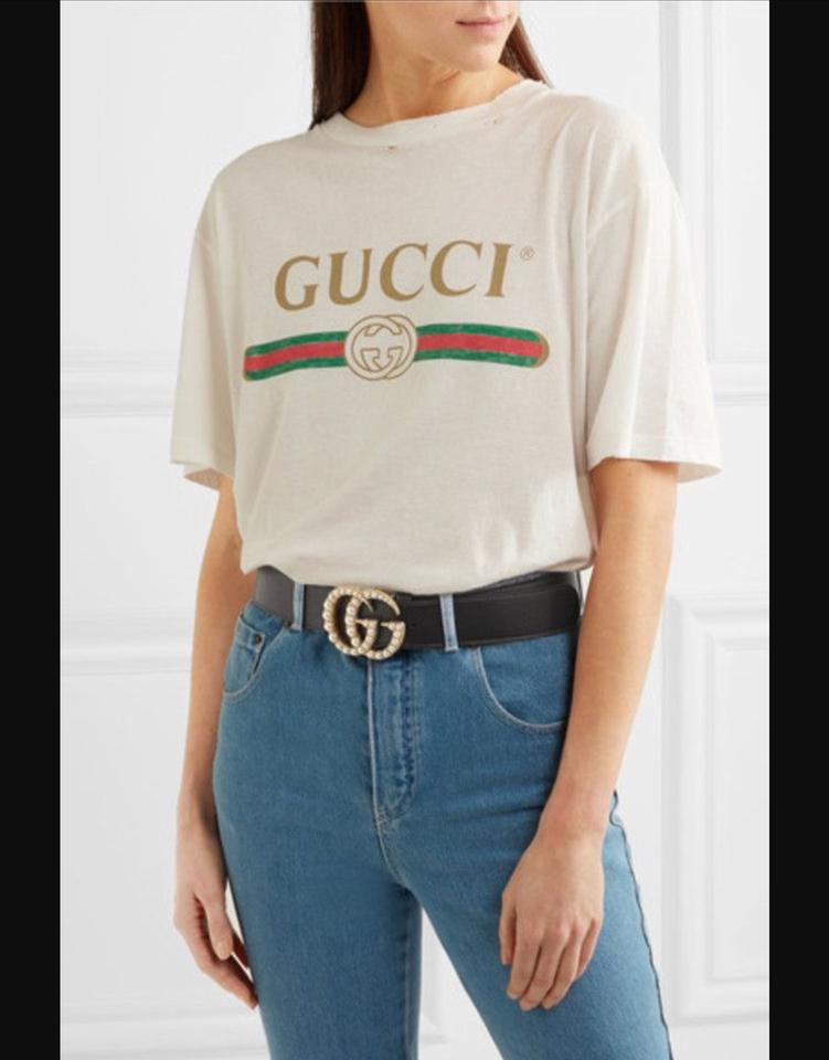 bc9f95691 Gucci Red GUCCI Pearl double G belt sz 85 tags attached. Gorgeous! Image 6.  1234567
