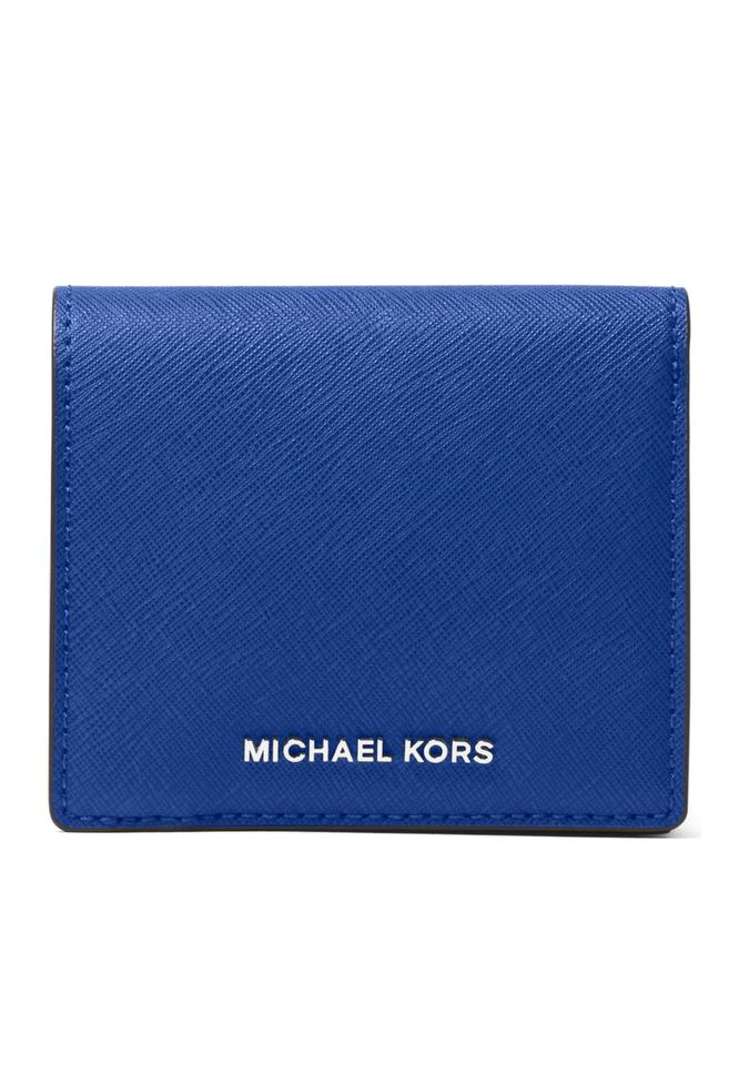 456a33571bc0 Michael Kors MICHAEL KORS Jet Set Travel Saffiano Leather Card Holder Image  0 ...