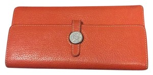Herms orange wallet