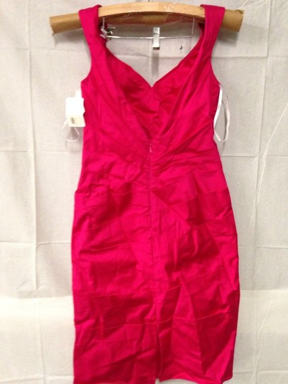 Wtoo Passion Fruit Stretch Cotton Sateen Bridesmaid/Mob Dress Size 8 (M) Image 1