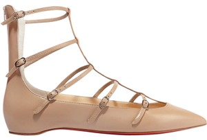 Christian Louboutin Toerless Muse Caged Beige Flats