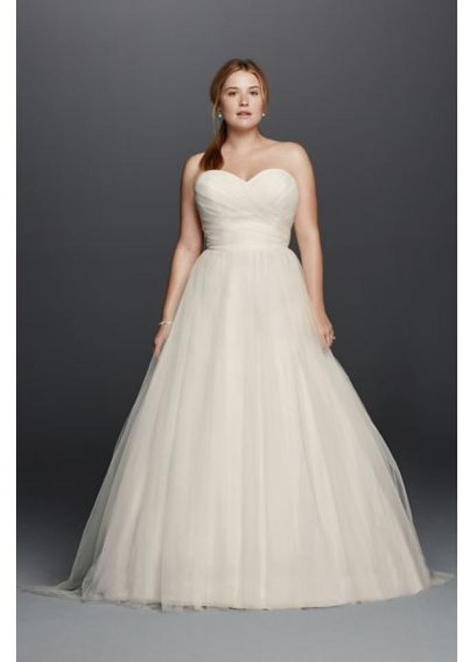 296adaff9d2 David s Bridal Ivory Tulle 9wg3802 Wedding Dress Size 20 (Plus 1x ...