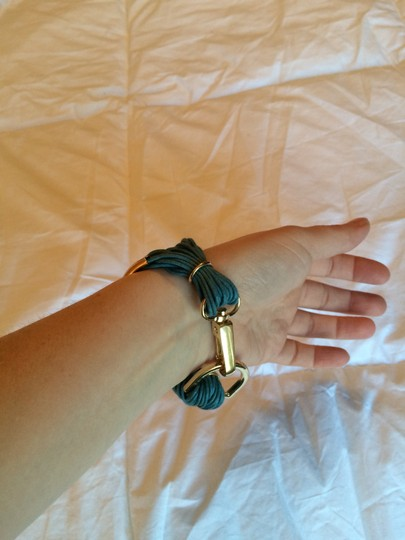 Purchased from Joss and Main Saachi brand new gold leather bracelet Image 2