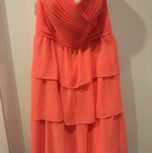 Alfred Angelo Salmon 1375 Casual Bridesmaid/Mob Dress Size 10 (M)