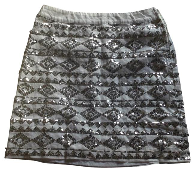 Item - White with Silver Sequins Skirt Size 0 (XS, 25)