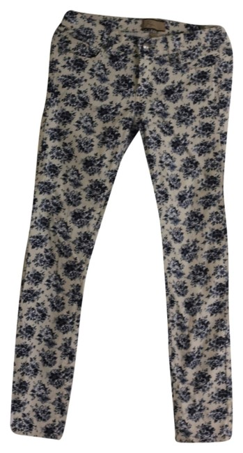 Paige Skinny Pants Blue and White