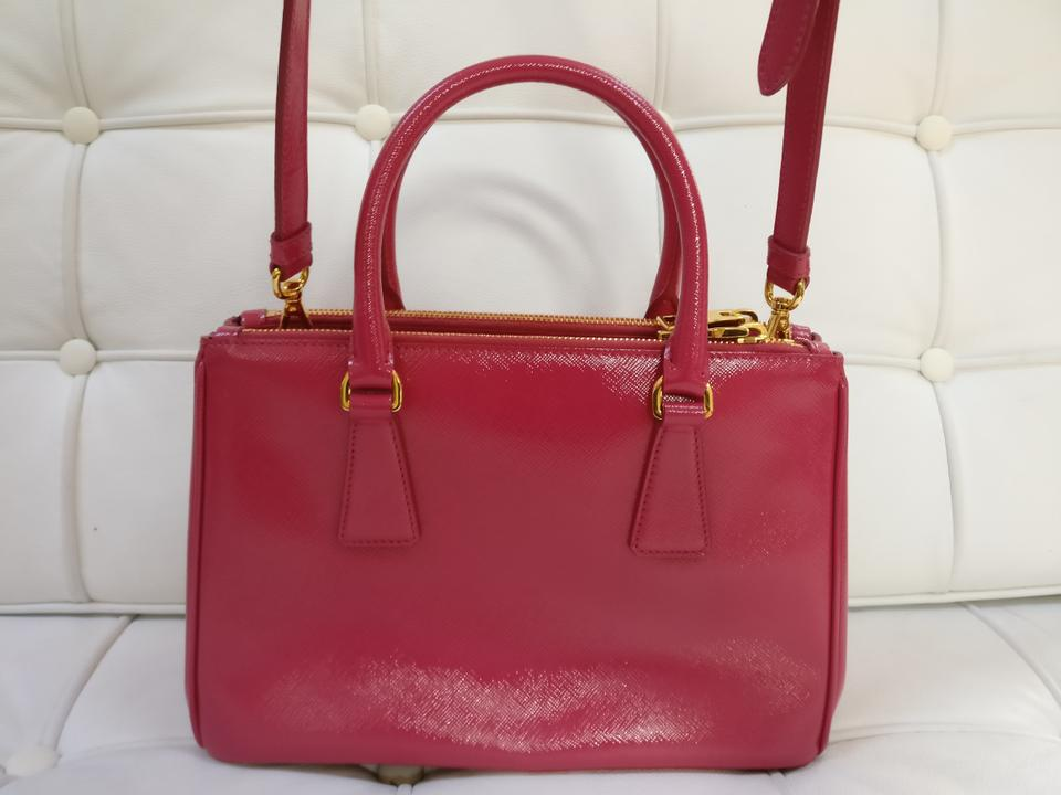 7936c7b4c5d Prada Double Lux New Bn2316 Vernice Saffiano Zip Tot Pink Leather Tote -  Tradesy