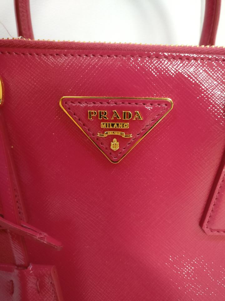 1b00048676c Prada Double Zip Saffiano Leather Bn2316 Tote in Pink Image 11.  123456789101112