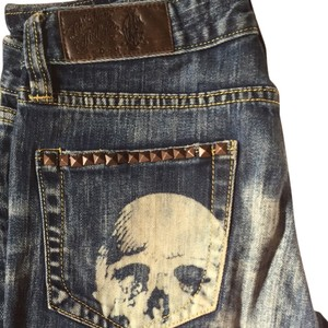 Christian Audigier Boot Cut Jeans-Medium Wash