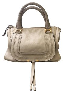Chloé Chic Classic Leather Satchel in Abstract White