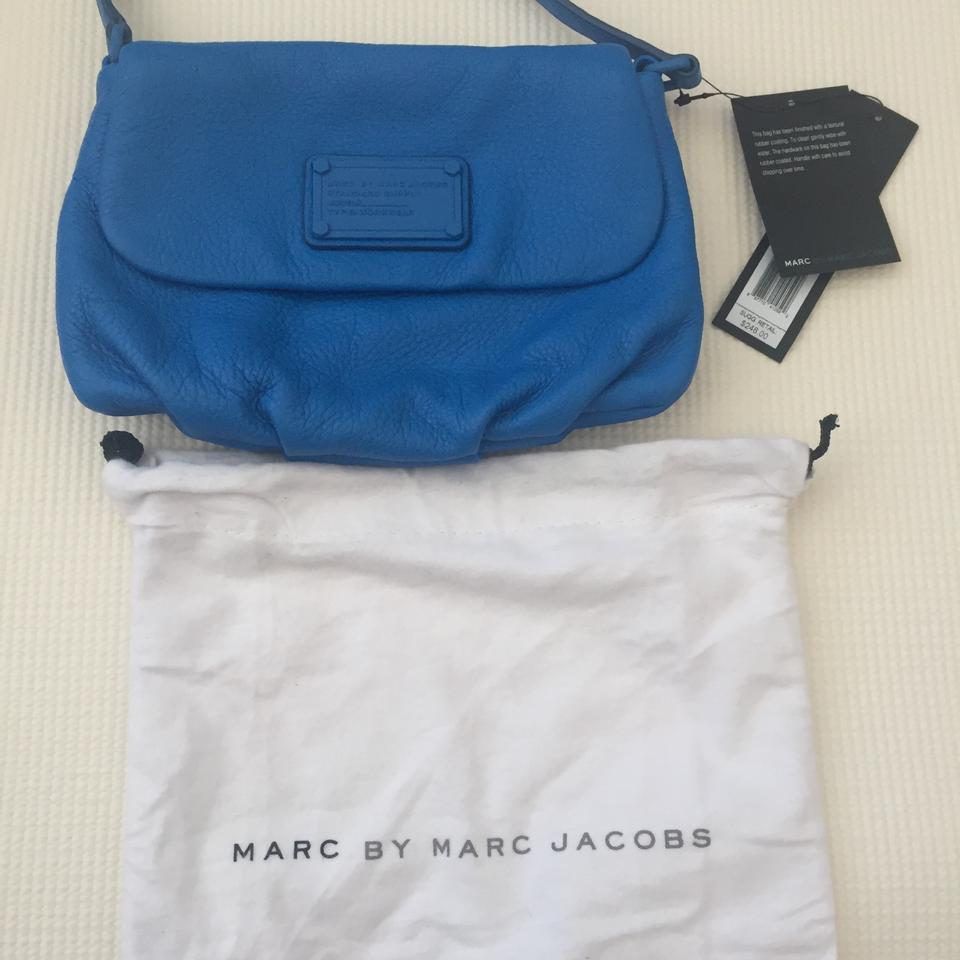 4325ab531991 Marc by Marc Jacobs Electro Q Flap Percy Blue Lemonade Pebble ...